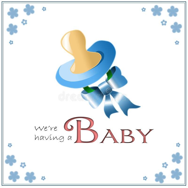 Scheda di annuncio di nascita illustrazione di stock