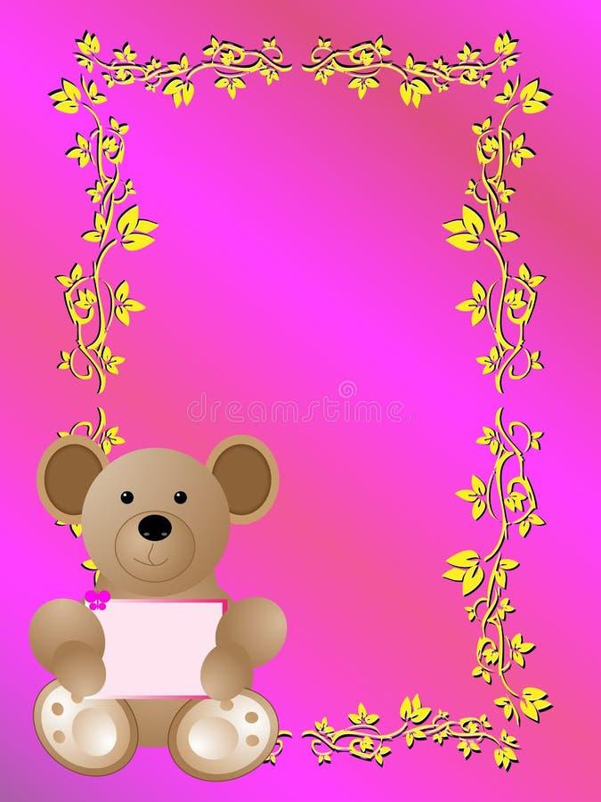 Scheda di annuncio di nascita del bambino è una ragazza royalty illustrazione gratis