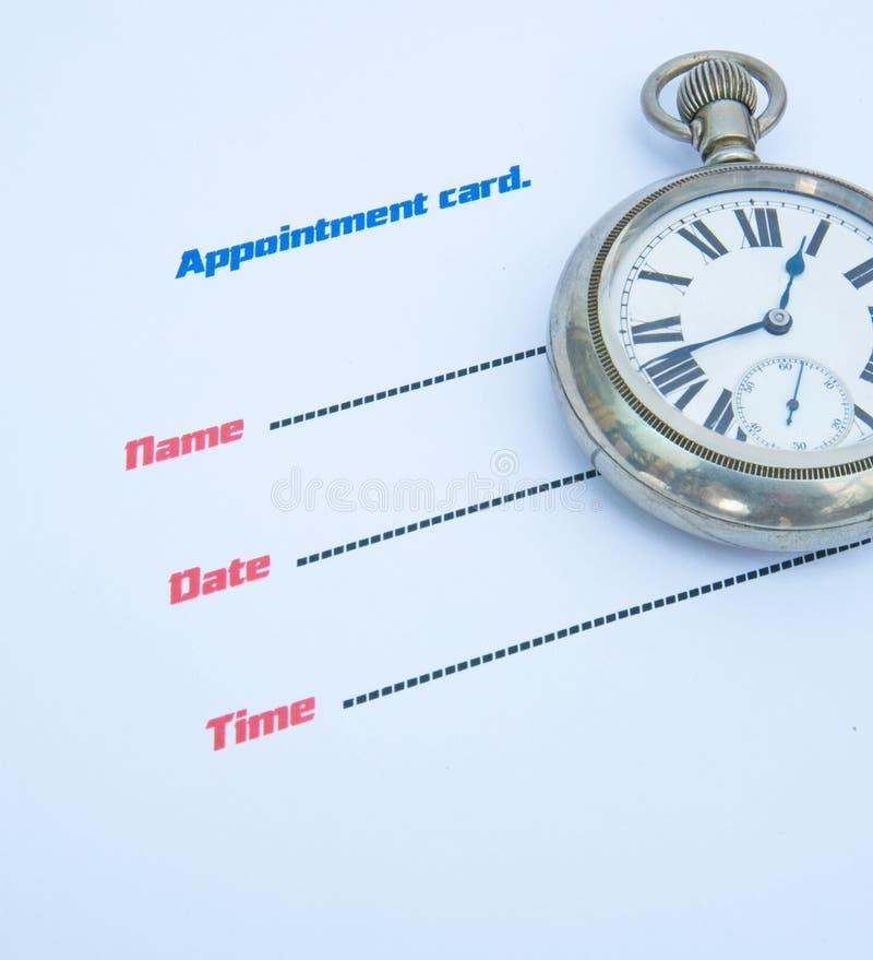 Scheda di appuntamento. immagini stock libere da diritti