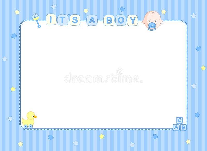 Scheda di arrivo del neonato/priorità bassa royalty illustrazione gratis