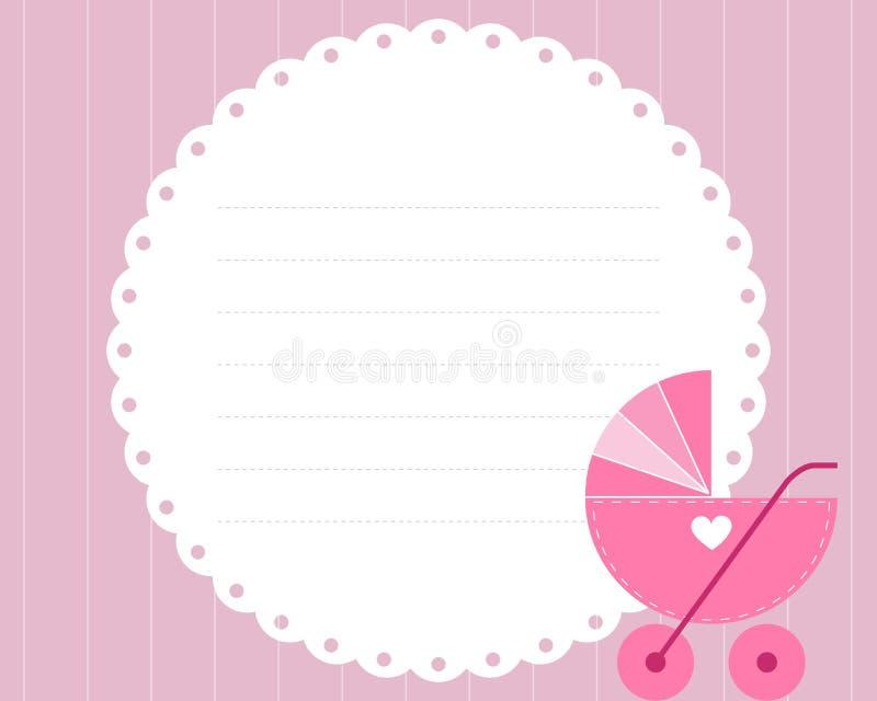 Scheda di arrivo della neonata illustrazione di stock