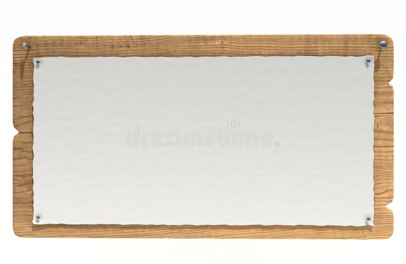 Scheda di avviso di legno illustrazione vettoriale
