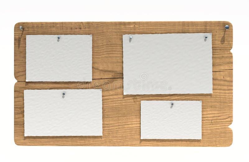 Scheda di avviso di legno royalty illustrazione gratis