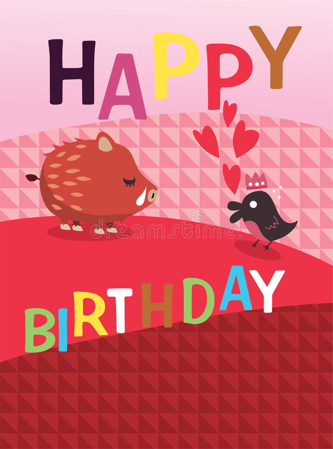 Scheda di buon compleanno royalty illustrazione gratis