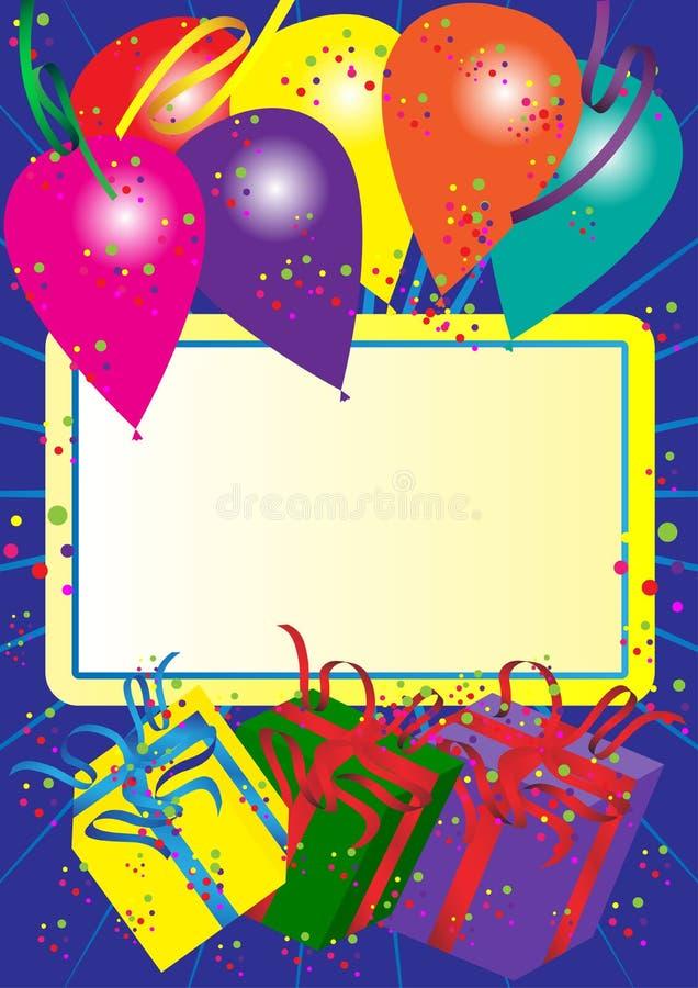 Scheda di buon compleanno illustrazione di stock