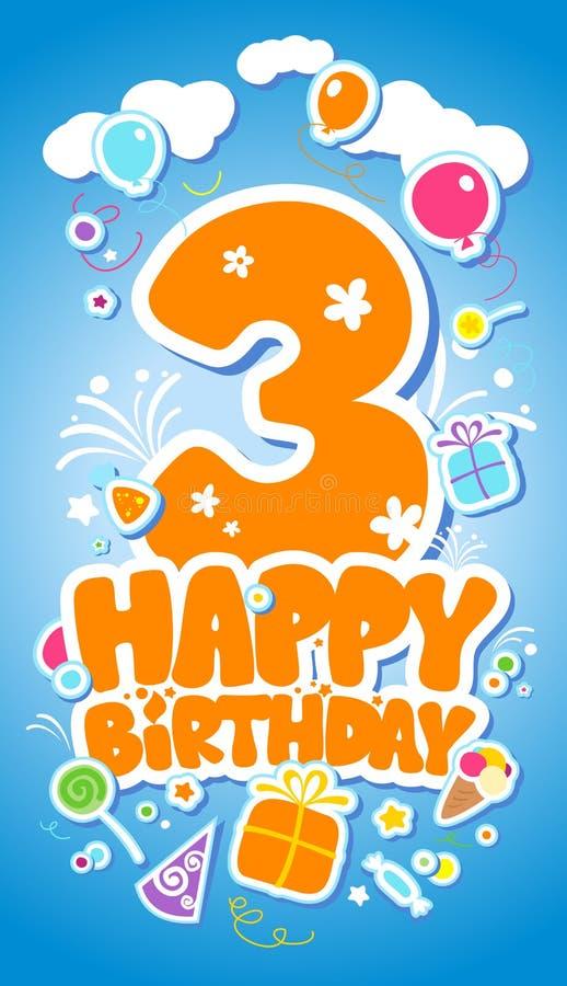 Scheda di compleanno. illustrazione di stock