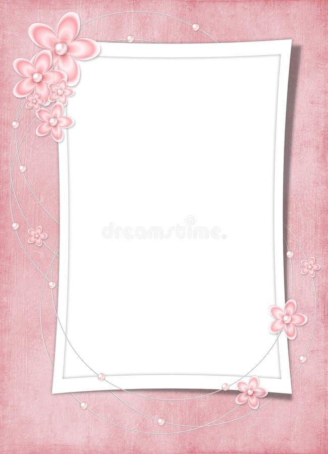 Scheda di festa dai fiori e dalla perla illustrazione vettoriale