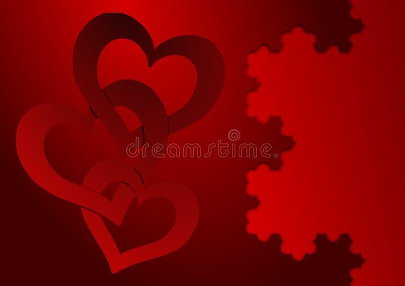 Scheda di giorno dei biglietti di S. Valentino royalty illustrazione gratis