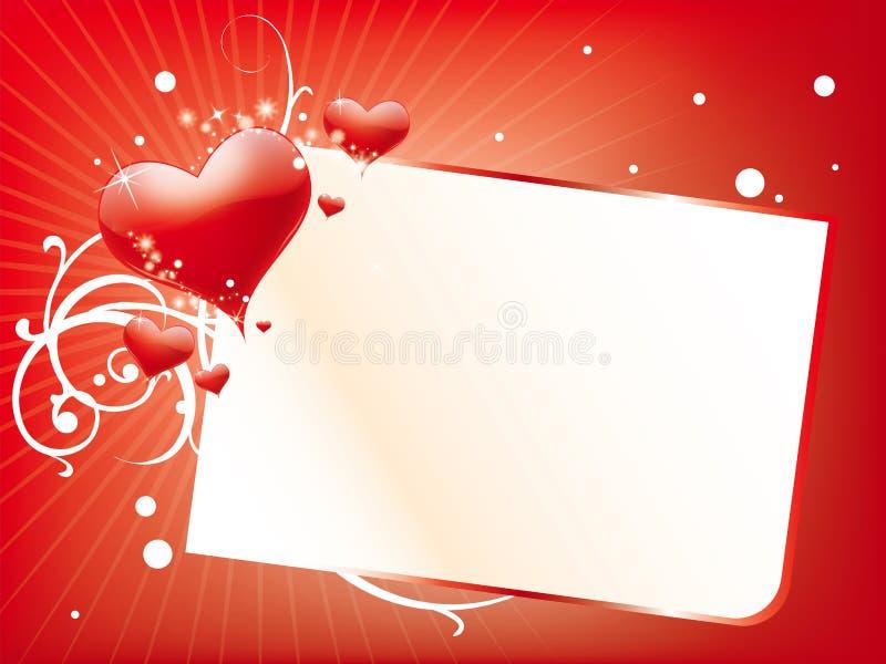 Scheda di giorno dei biglietti di S. Valentino illustrazione vettoriale
