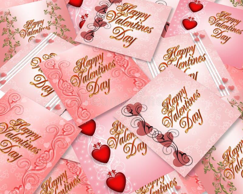 Scheda di giorno dei biglietti di S. Valentino illustrazione di stock