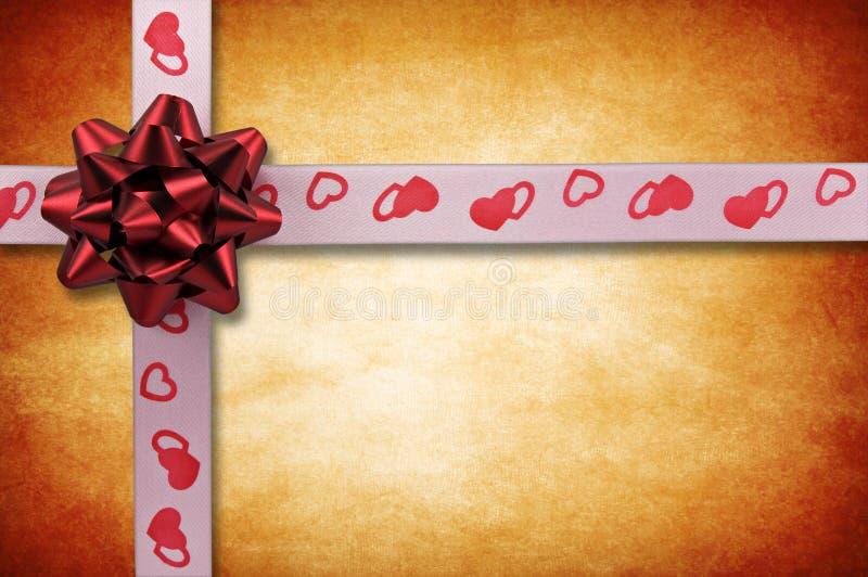 Scheda di giorno del biglietto di S. Valentino fotografia stock libera da diritti