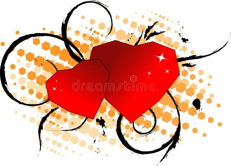 Download Scheda Di Giorno Del Biglietto Di S. Valentino. Illustrazione Vettoriale - Illustrazione di fiore, febbraio: 3886164