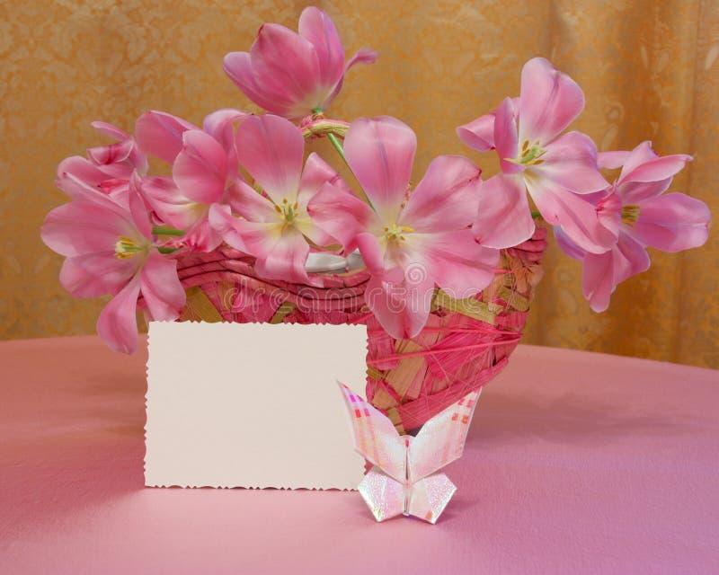 Scheda di giorno di madri o immagine di Pasqua - foto di riserva immagine stock libera da diritti