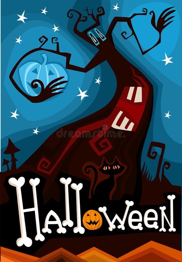 Scheda di Halloween illustrazione di stock