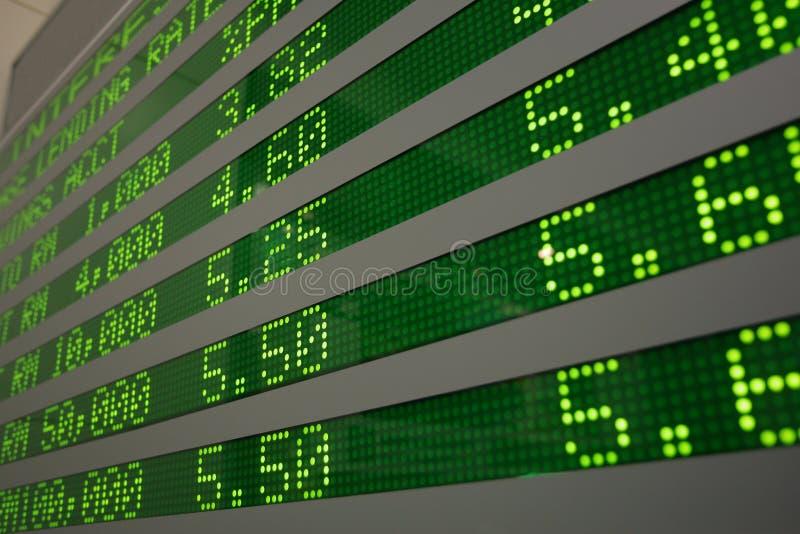 Scheda di informazioni elettroniche immagini stock