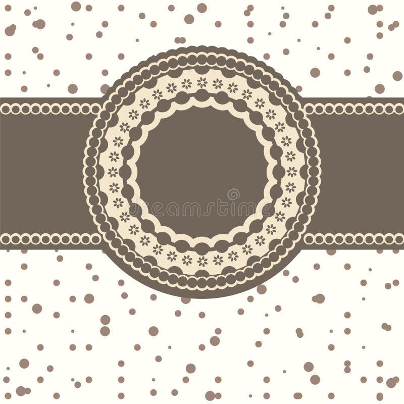 Scheda di invito con un Polka-puntino illustrazione di stock
