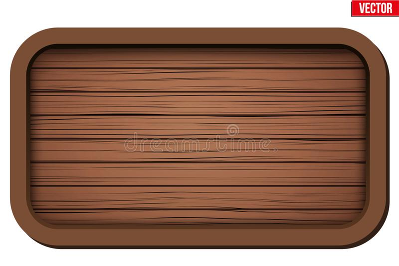 Scheda di legno anziana illustrazione vettoriale