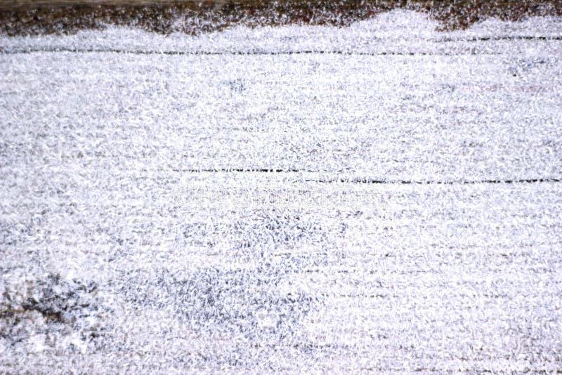 Scheda di legno Snowbound fotografia stock libera da diritti