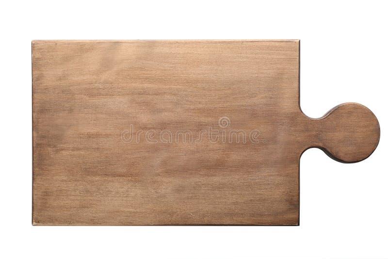 Scheda di legno su priorità bassa bianca fotografia stock libera da diritti