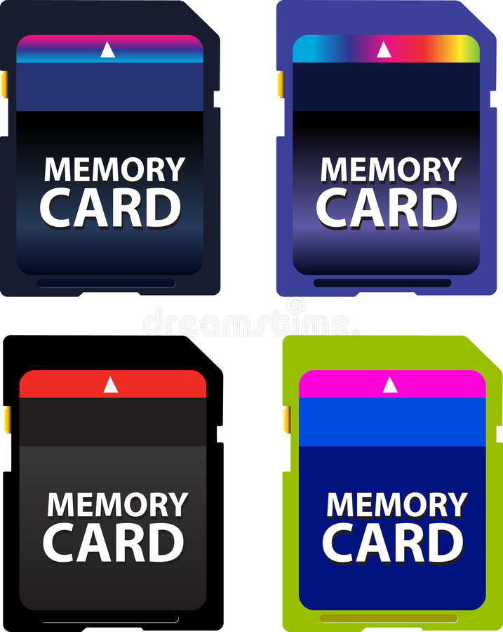 Scheda di memoria fotografia stock
