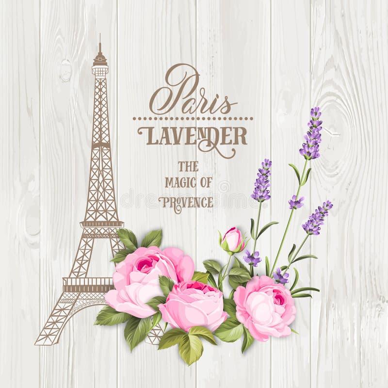 Scheda di memoria di Parigi illustrazione di stock