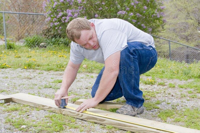 Scheda di misurazione del carpentiere fotografie stock