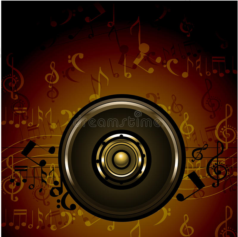 Scheda di musica illustrazione vettoriale