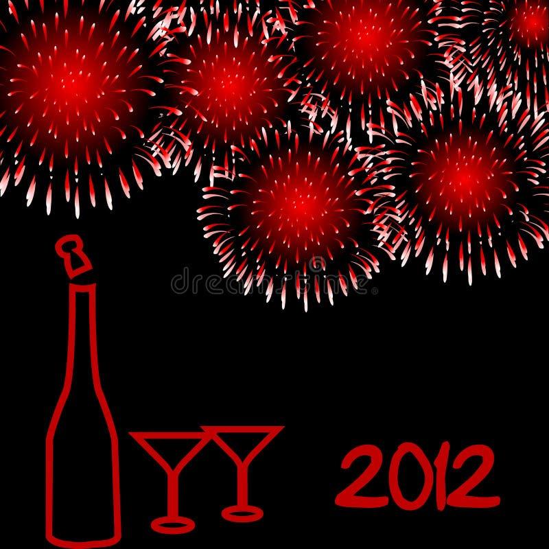 Scheda di nuovo anno 2012 illustrazione di stock