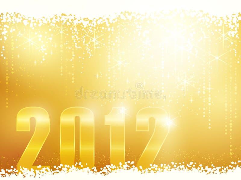 Scheda di nuovo anno felice 2012 illustrazione di stock