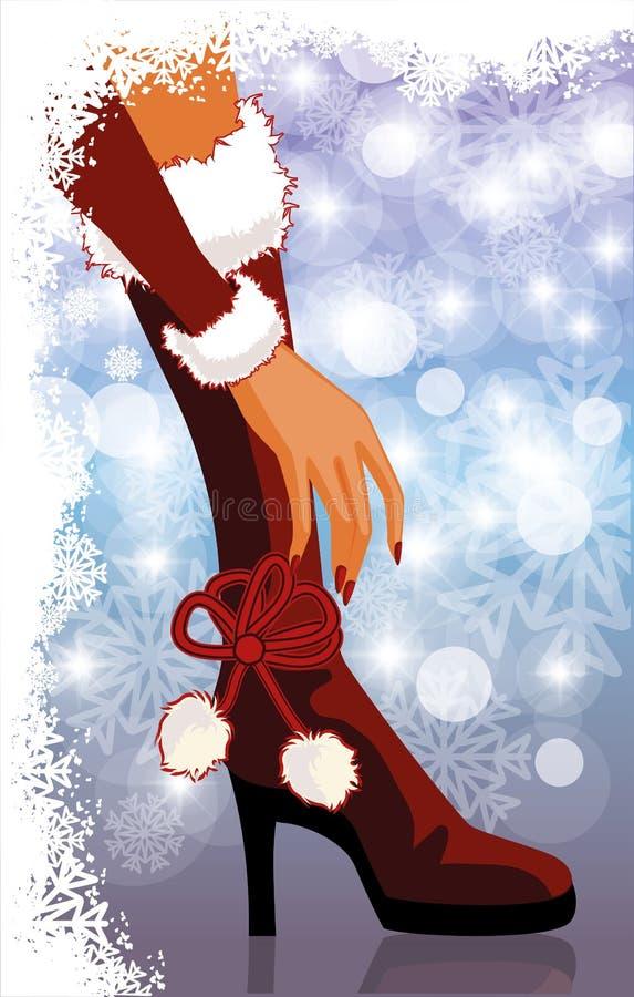 Scheda di orario invernale royalty illustrazione gratis