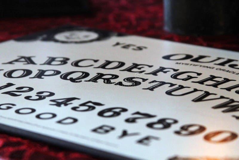 Scheda di Ouija fotografie stock