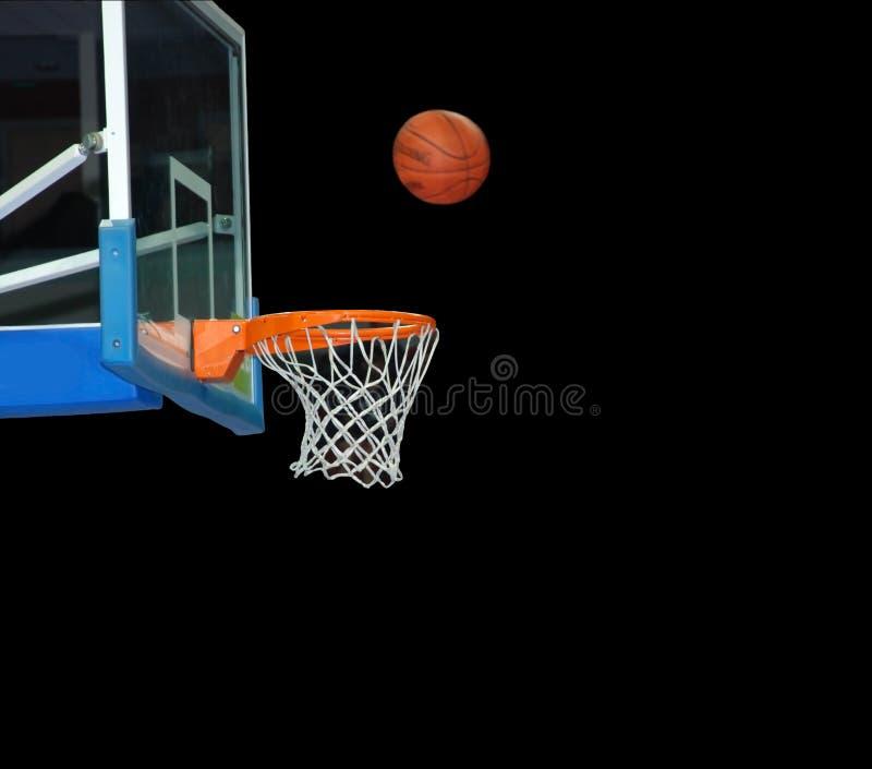 Scheda di pallacanestro e sfera di pallacanestro fotografia stock libera da diritti