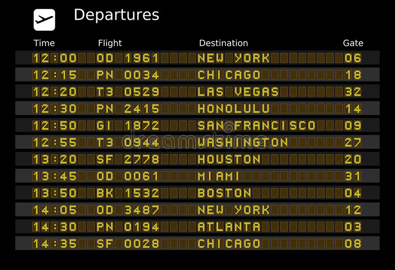 Scheda di partenza illustrazione vettoriale
