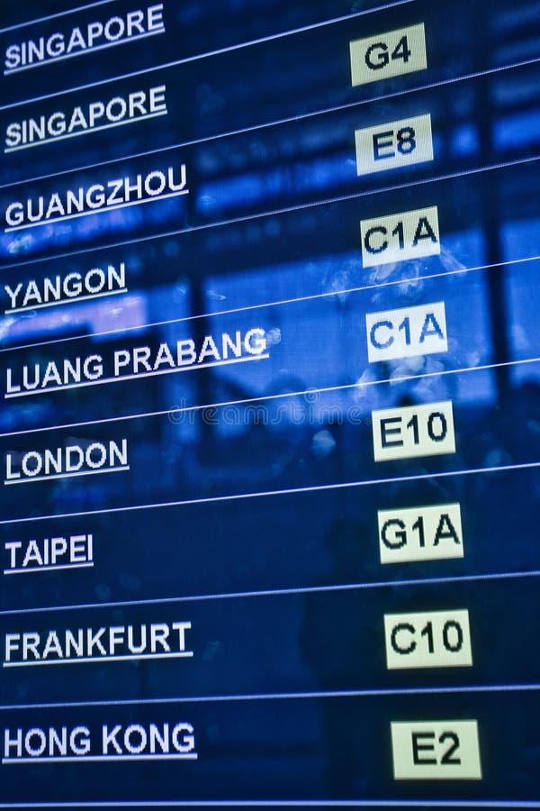 Scheda di partenza dell'aeroporto immagini stock