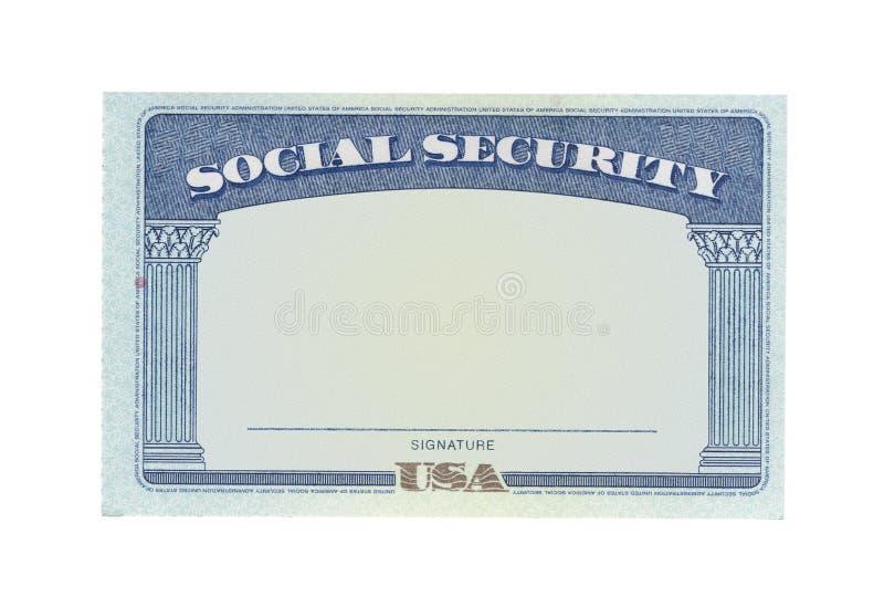 Scheda di previdenza sociale in bianco fotografie stock libere da diritti