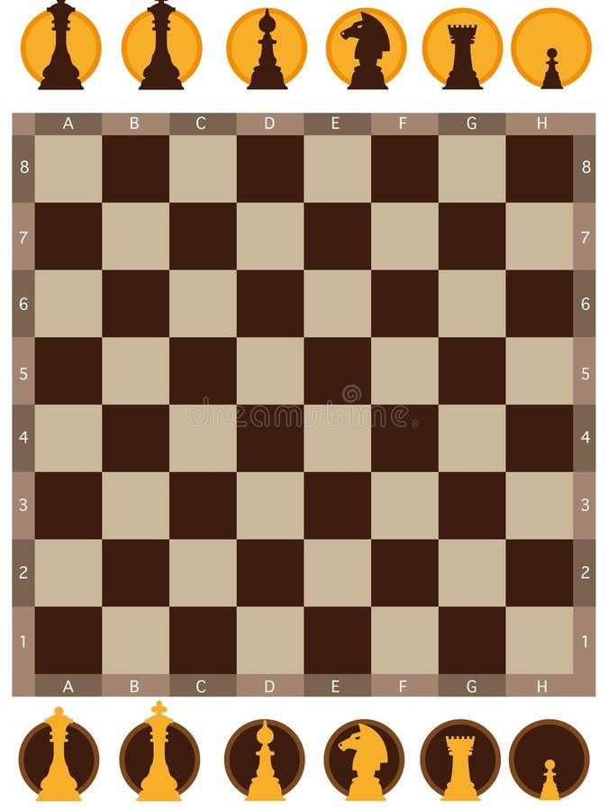 Scheda di scacchi illustrazione di stock