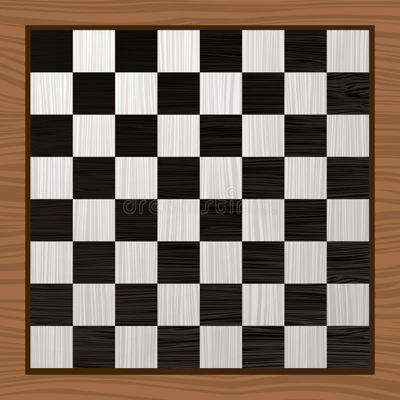 Scheda di scacchi in bianco e nero royalty illustrazione gratis