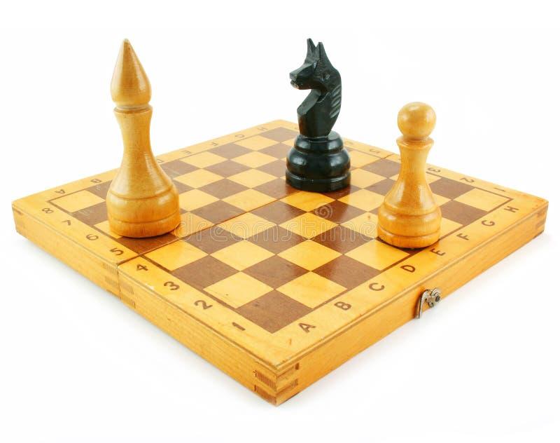 Download Scheda Di Scacchi E Chessmens Immagine Stock - Immagine di nero, scacchi: 7315357