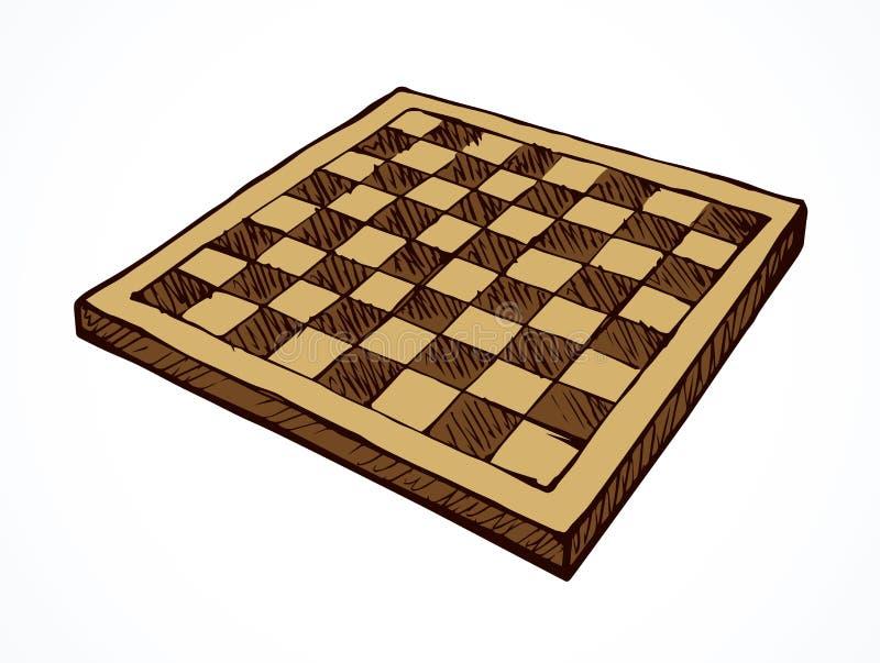 Scheda di scacchi Illustrazione di vettore illustrazione di stock