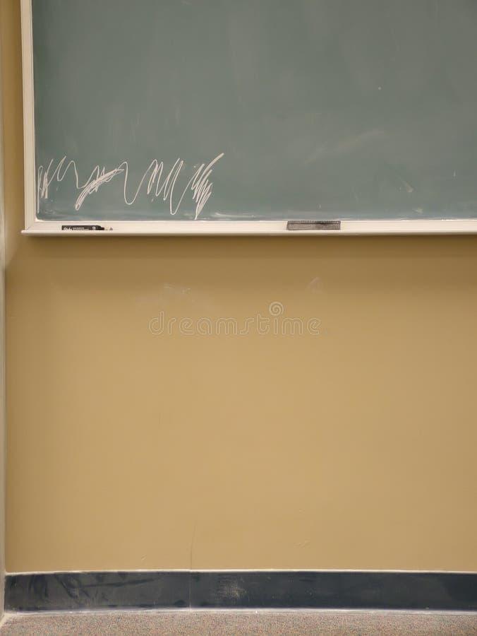 Scheda di scrittura dell'aula fotografia stock