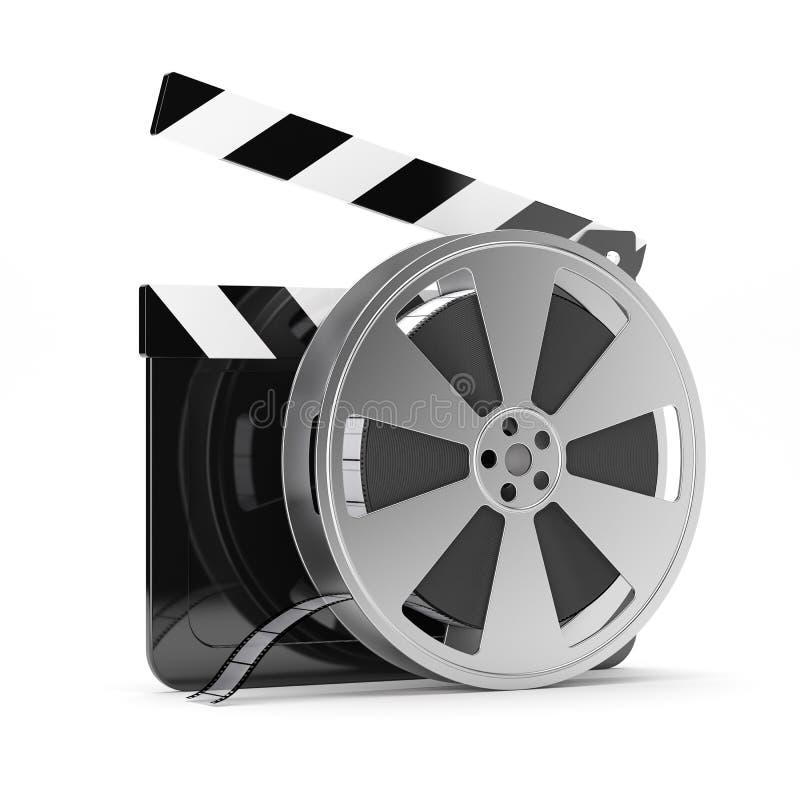 Scheda di valvola con la bobina di pellicola illustrazione di stock