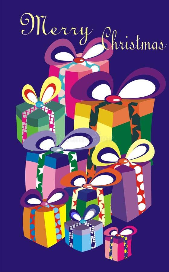 Scheda di vettore di Buon Natale royalty illustrazione gratis