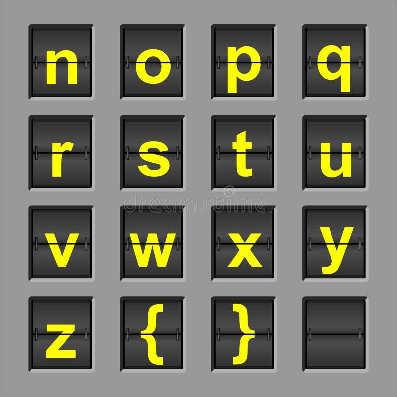 Scheda di vibrazione di alfabeto fotografia stock