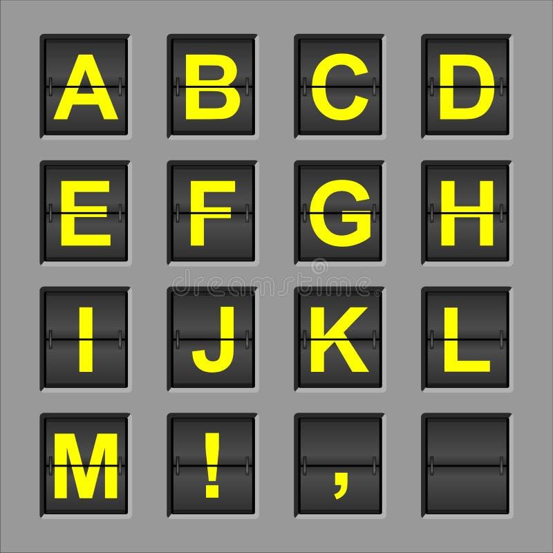 Scheda di vibrazione di alfabeto fotografie stock
