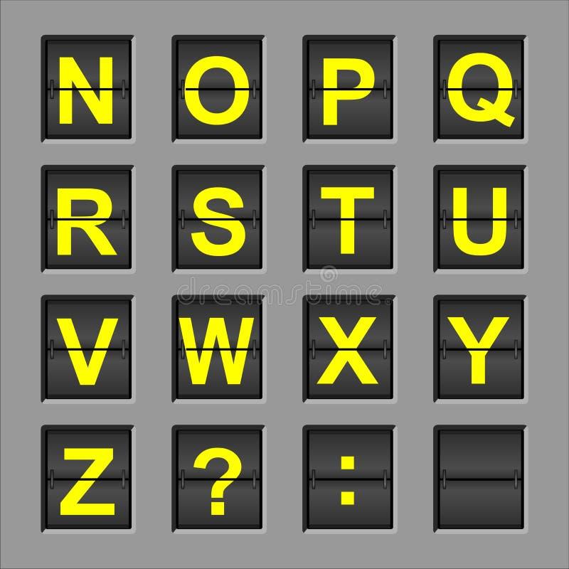 Scheda di vibrazione di alfabeto immagine stock libera da diritti