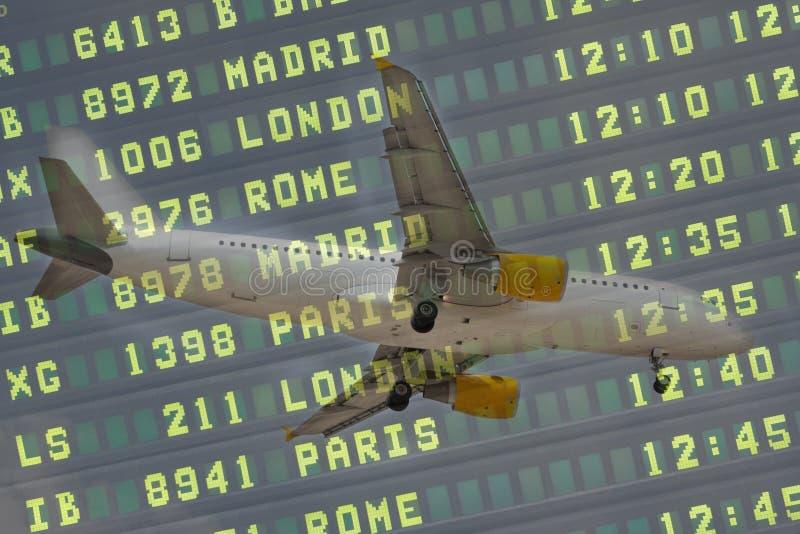 Scheda di volo dei velivoli fotografia stock