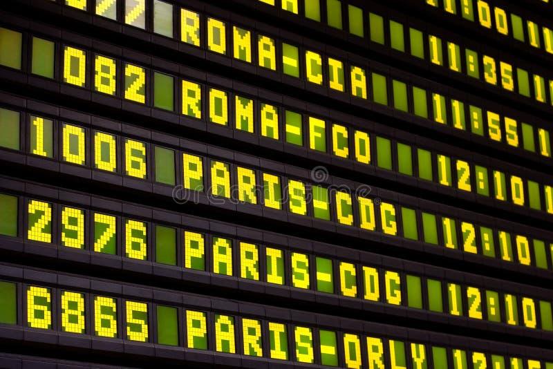 Scheda di volo Info immagini stock