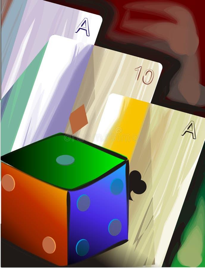 Scheda e cubo illustrazione vettoriale