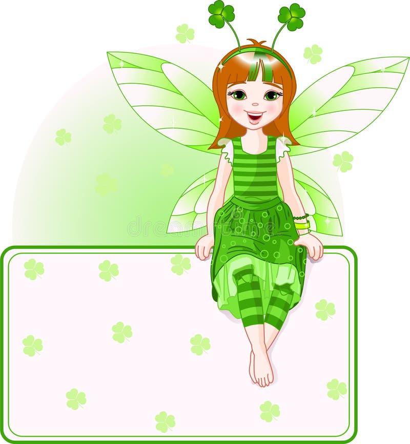 Scheda leggiadramente del posto per il giorno della st Patricks royalty illustrazione gratis