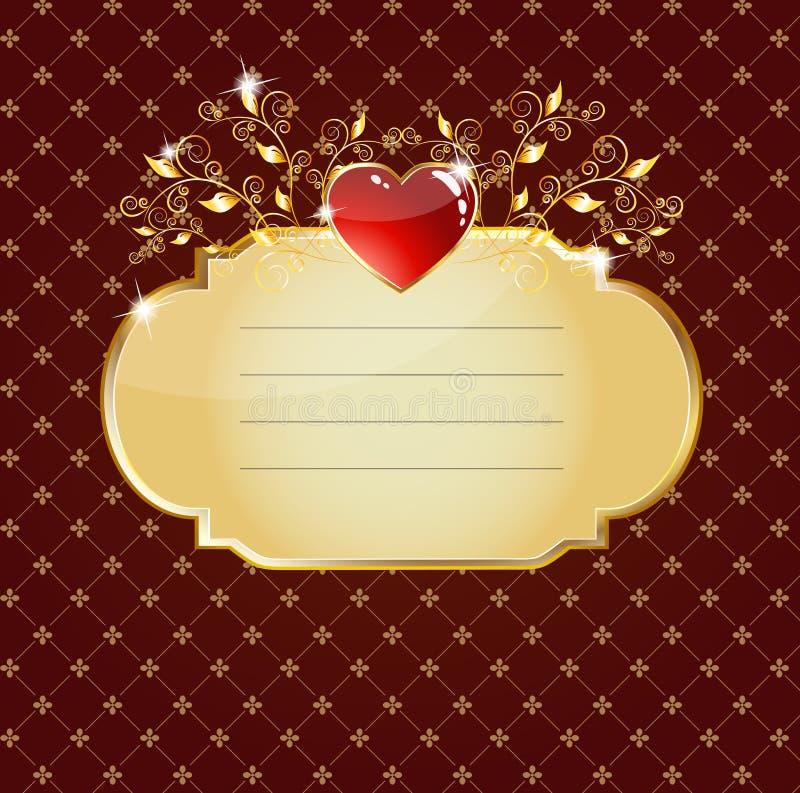 Scheda lucida del cuore viola royalty illustrazione gratis